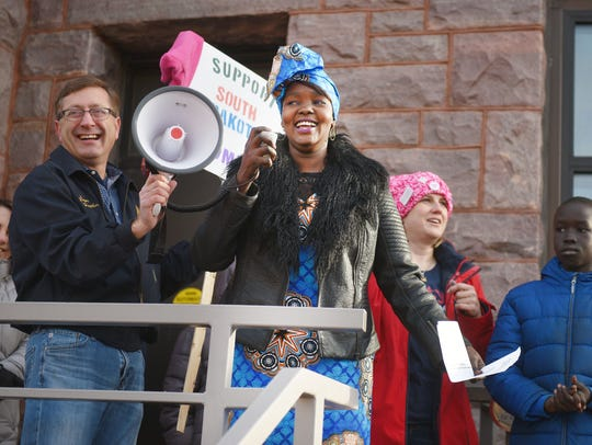 Women's March 2018 Saturday, Jan. 20, in downtown Sioux