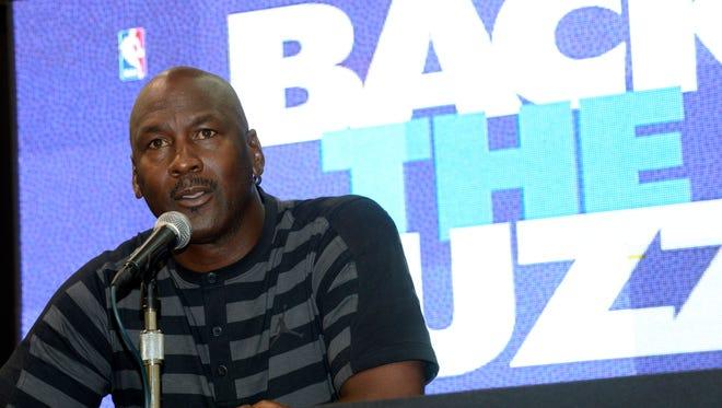 Michael Jordan announced the return of the Hornets team name to Charlotte last year.