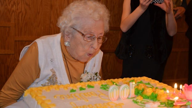 Pauline Feldhaus celebrated her 100th birthday with friends and family on Dec. 5.