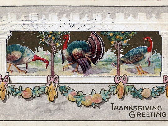 A historic Thanksgiving postcard.