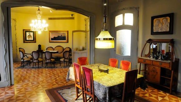 Inside Gaudi's Casa Mila.