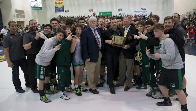 South Plainfield defeats Delsea for  NJSIAA Public  Group III Team Wrestling Championship  in Toms River, NJ on February 12, 2017