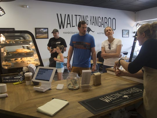 Customers look over the options Thursday at Waltzing