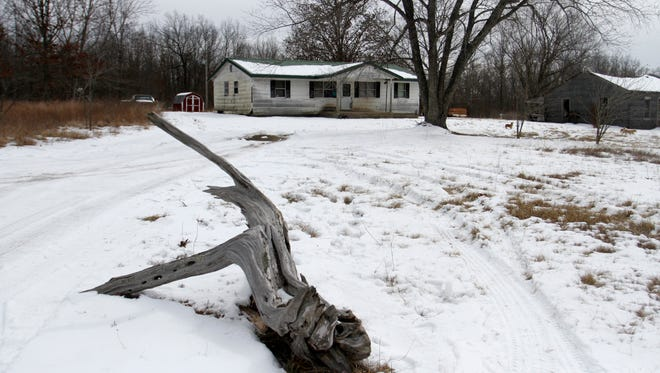 A house off Highway 137 in Tyrone Missouri is one of four houses where a gunman killed seven people and wounded another Thursday night in the rural town about 90 miles east of Springfield.