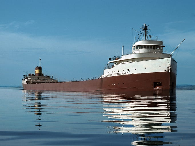 The Edmund Fitzgerald on the St. Mary's River in an