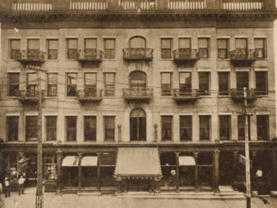 The Metropolitan Hotel was built in 1870 on College Street in Springfield.