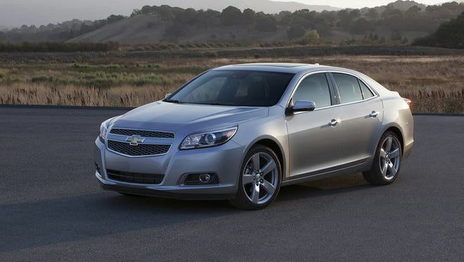 The Wayne County Sheriff's Office is searching for a stolen 2015 Chevy Malibu similar to the one in this photo.