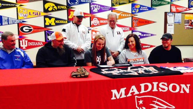 Madison senior Sam Gosnell has signed to play college softball for Milligan (Tenn.).