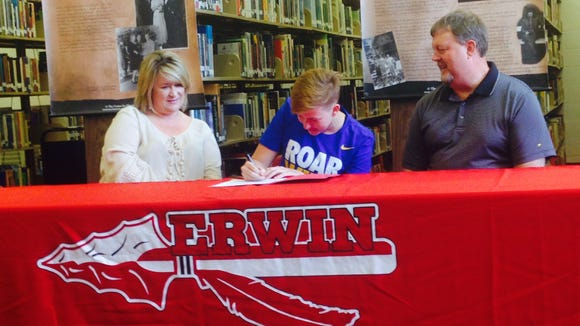 Erwin senior Tori Rigsby has signed to swim in college for Mars Hill.