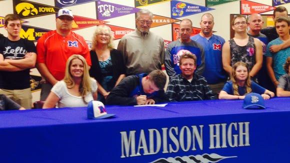 Madison senior Trystan Jones has signed to play baseball for Brevard College.