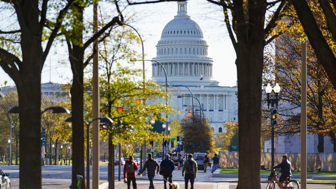 The Capitol is seen in Washington, Monday, Nov. 16, 2020, as the House and Senate return to work.