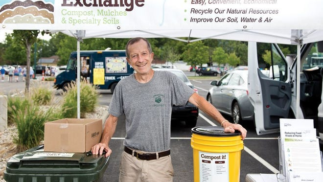 Ray Leard, chief composter at his Columbus-based business Compost Exchange