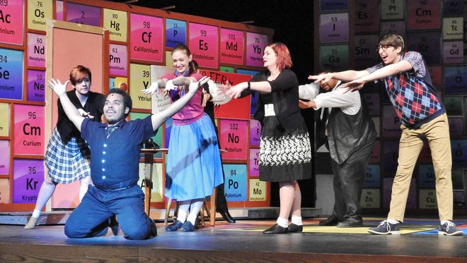 """University of Wisconsin-Manitowoc theater is performing """"Zombie Prom."""" The show's cast is a blend of students and community members."""