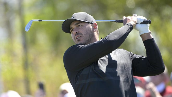 Brooks Koepka watches his tee shot on the seventh hole during the third round of the Arnold Palmer Invitational in Orlando, Fla., on March 7.
