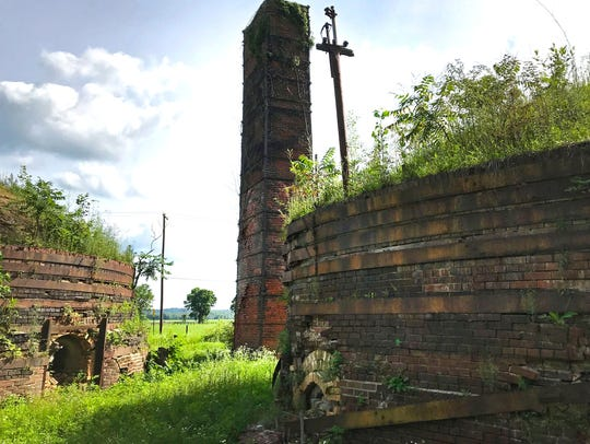 As the Medora Brick kilns were fired, the heat is sucked