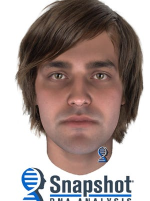 This undated composite image provided by the Lancaster County District Attorney's Office shows a possible suspect in the 1975 stabbing death of a 19-year-old Pennsylvania woman. Prosecutors released composite photos Thursday, Sept. 5, 2019, of a man who left DNA at the scene of Lindy Sue Biechler's fatal stabbing nearly 44 years ago. The Lancaster County district attorney made public the new composite images and provided other fresh details about a possible suspect in hopes the public can help identify him. (Lancaster County District Attorney's Office via AP)