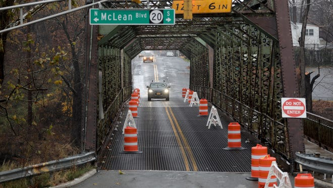 The Fair Lawn Ave. Bridge, which connects Paterson (shown here) and Fair Lawn, is closed to eastbound traffic. Tuesday, November 29, 2016