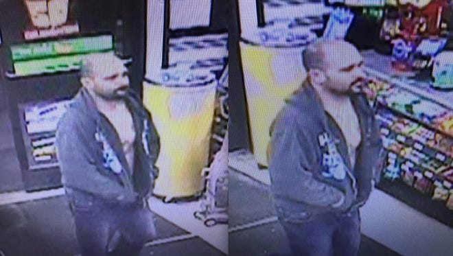 Green Oak Township Police said the man depicted in this surveillance photograph stole numerous items from the 7-Eleven convenience store Jan. 27. Anyone with information is asked to call the department at 810-231-9626.
