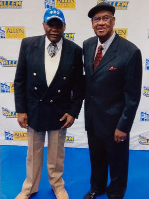 Nathaniel Boston, left and Richard Kerns have been inducted into the Allen University Athletic Hall of Fame.