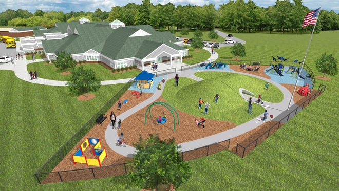 A rendering of the possible design of the Early Childhood Center that will be constructed next to the McKinley Building. The center is the result of the $105.9 million bond passed in August 2016.