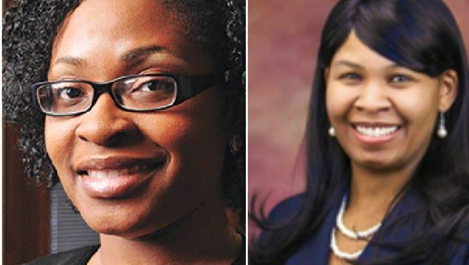 Fatimat Reid, left, and Zuleika Shepard.