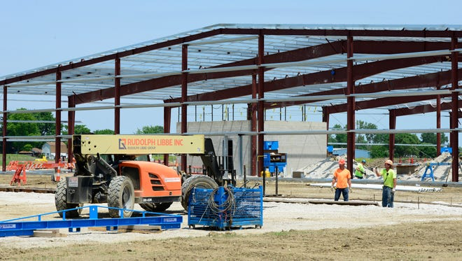 Construction on Standard Wellness LLC's 50,000-square-foot facility at Gibsonburg's Clearview Industrial Park is on schedule for the facility to be operational by the end of the year, officials said this week.