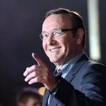 """Kevin Spacey arrives for the world premiere, (if you don't count that accidental Internet leak a few weeks ago,) of season three of """"House Of Cards"""" on Feb. 26, 2015, in London."""