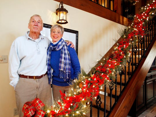 Jim and Bobbie Short begin decorating for Christmas