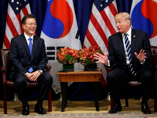 President Trump meets with South Korean President Moon