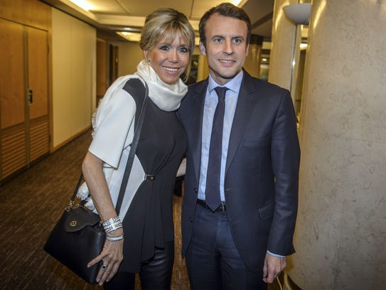 Emmanuel Macron, candidate for the French president,