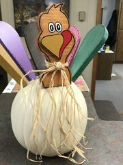 Turkeys decorate the office at Klaphake Feed Mill in Melrose on Tuesday, Nov. 14.