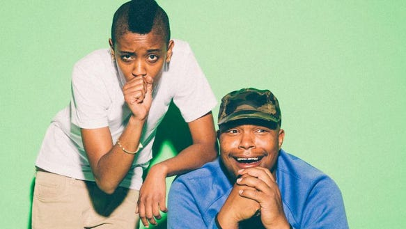 Syd tha Kyd and Matt Martians from The Internet.
