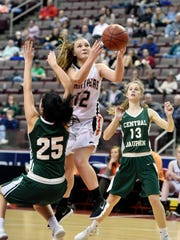 Central York's Katie Fabbri shoots against Central
