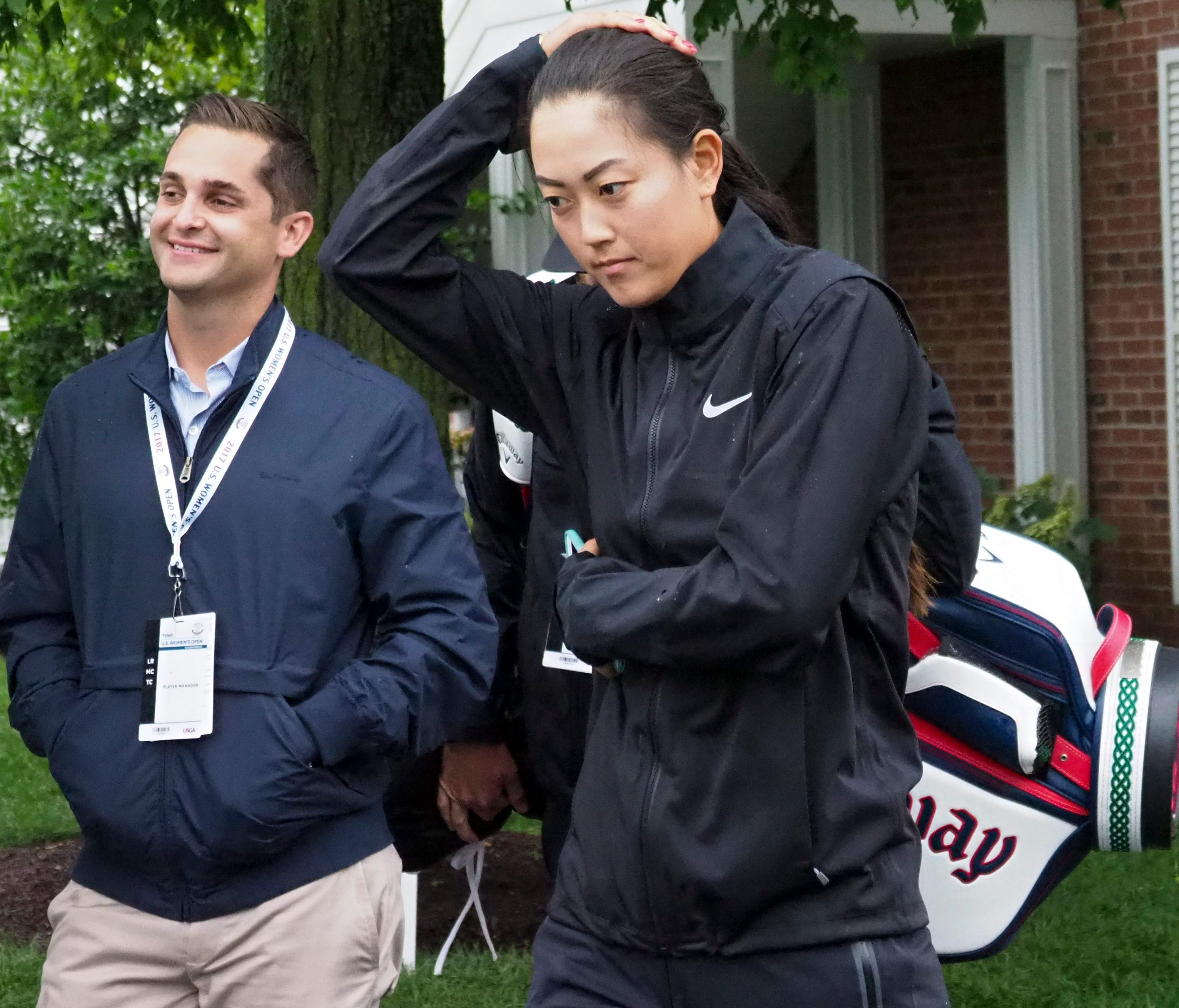 Michelle Wie withdrew from the U.S. Women's Open during the second round.