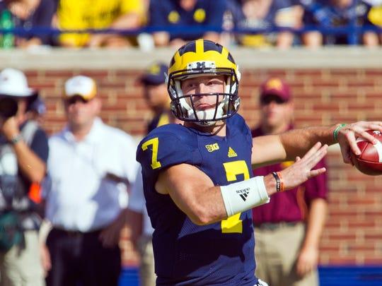 Michigan quarterback Shane Morris