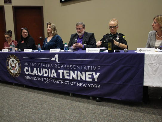 From left, Jessica Dube, Jill Aford Hammit, Alexis
