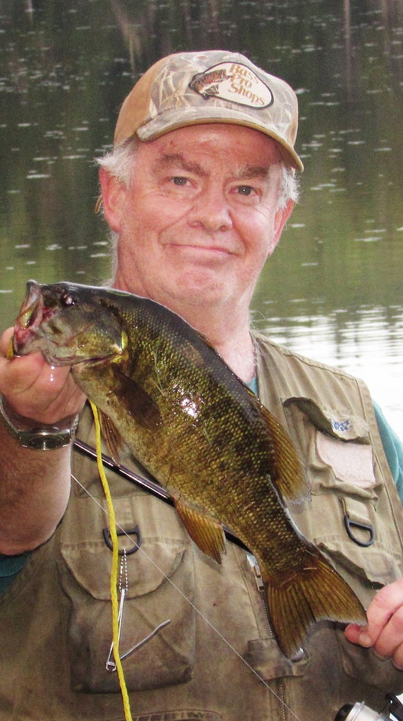 I nabbed another plump smallmouth bass over the weekend