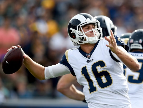 Jared Goff, the top pick in the 2016 NFL Draft, looked
