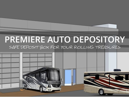 A rendering of Premiere Auto Depository, a business