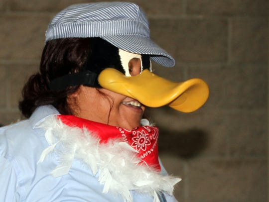 Christy Garay during the interview portion of the Duck