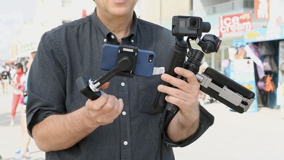 Jefferson Graham tries out three consumer gimbals at