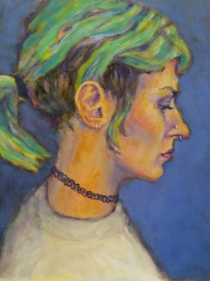 """""""Anna"""" by Lynn Gilchrist, part of the Door Prize for Portraiture show at Chez Cheryl Artspace."""