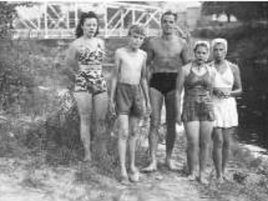 From left, Lucy Breese, their cousin Al Banks, John Breese and their cousins Judy and Betty near Seeley Creek during John Breese's teen years.