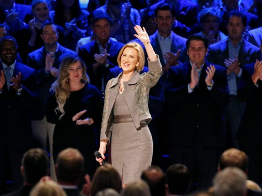 Carly Fiorina walks onstage at the North Texas Presidential Forum in Plano, Texas, on Oct. 18, 2015. (Stewart F. House, Getty Images)
