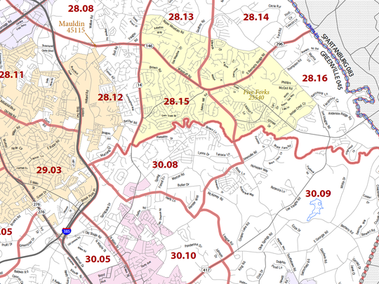 Five Forks is an unincorporated census-designated area