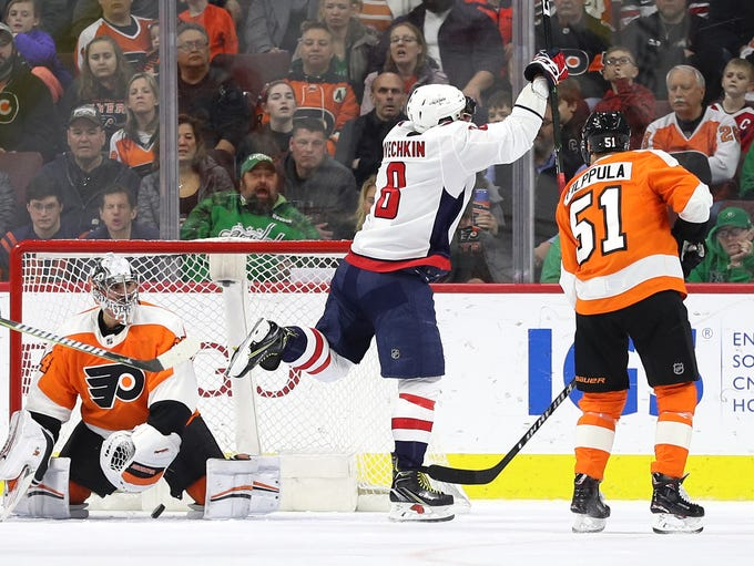 March 18: Capitals star Alex Ovechkin scores his 601st