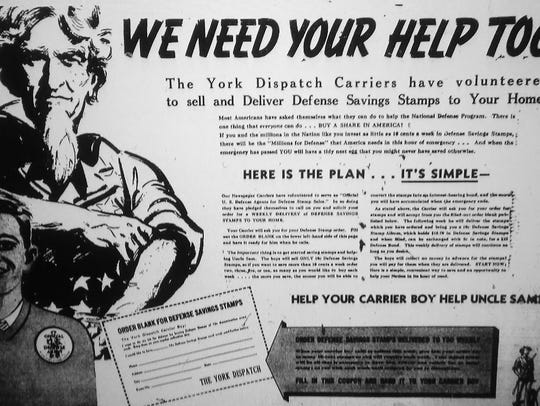 York Dispatch newspapers from the attack on Pearl Harbor