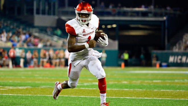 Houston quarterback Greg Ward Jr. is tied for the national lead with 15 TD runs.