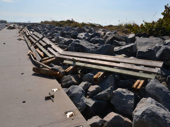 The Jetty Park Pier area was heavily damages by Hurricane