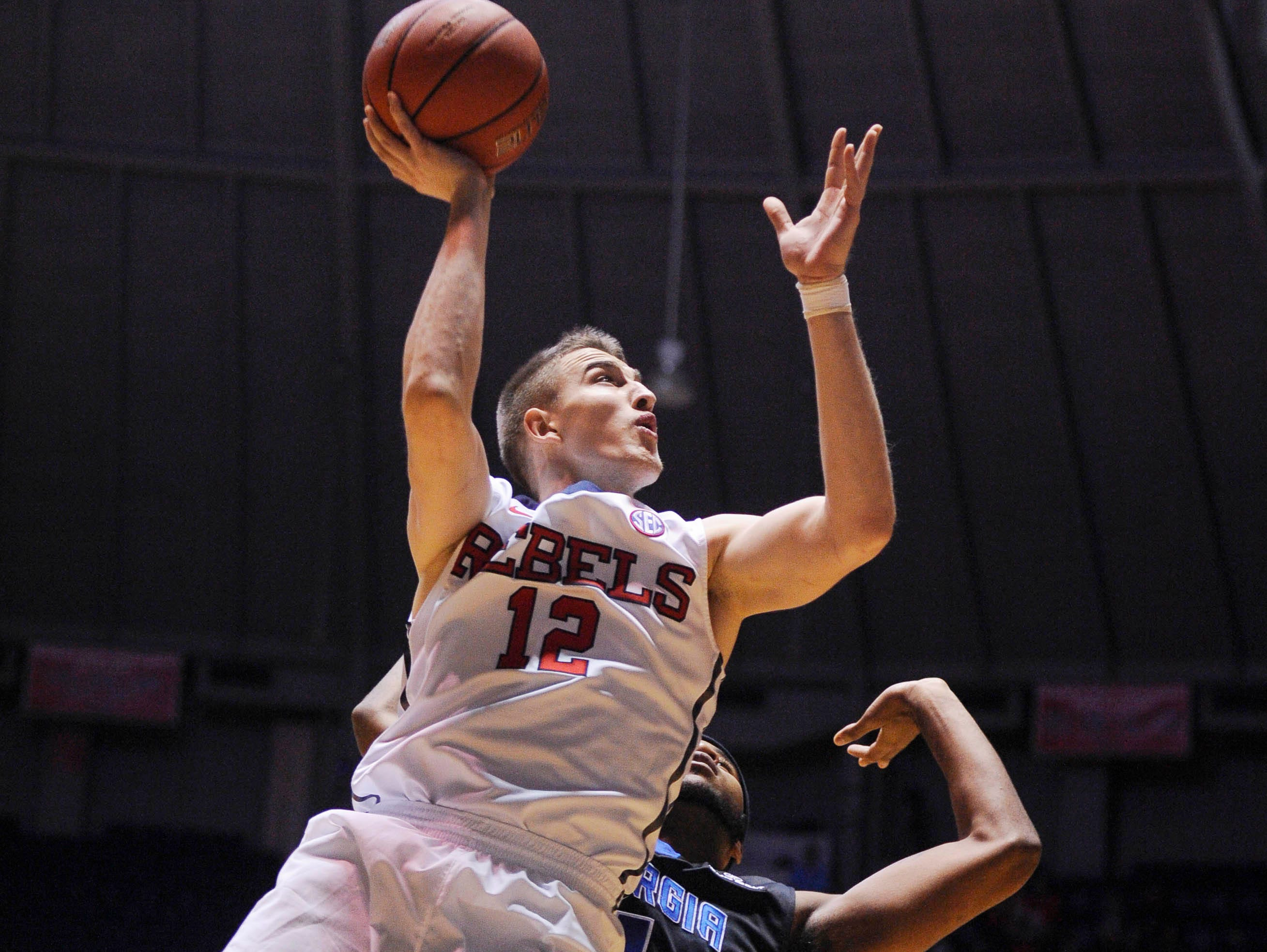 Ole Miss forward Tomasz Gielo had a strong performance for the Rebels on Wednesday afternoon against Georgia State.